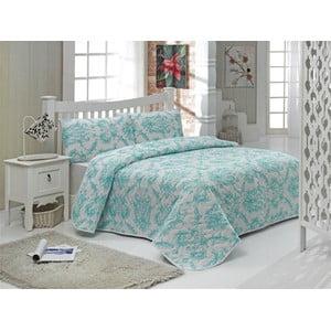 Sada prošívaného přehozu přes postel a dvou polštářů Double 466, 200x220 cm