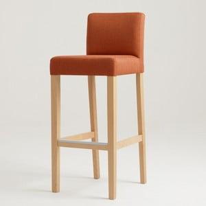 Scaun bar cu picioare de culoare naturală, Custom Form Wilton, portocaliu