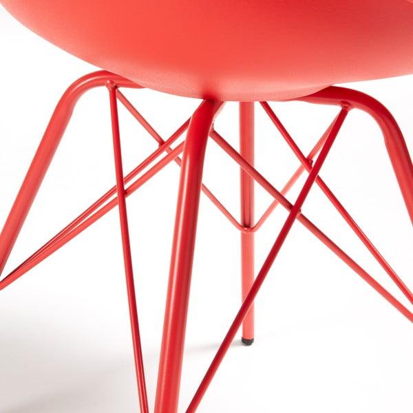 Sada 4 červených židlí La Forma Lars