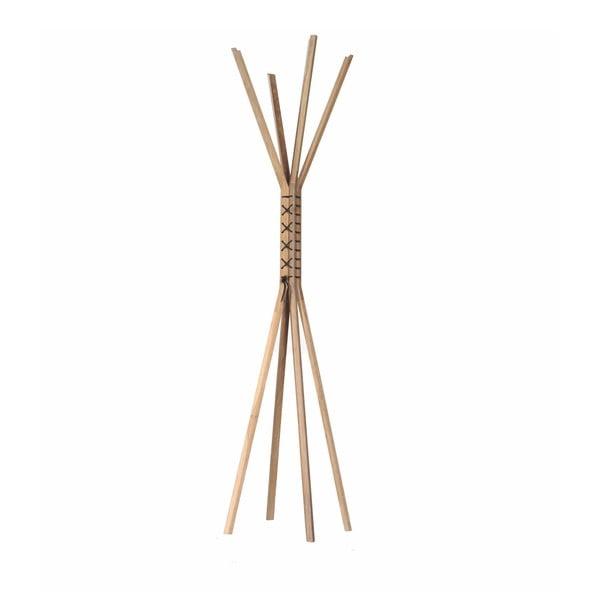 Stojací věšák z ořechového dřeva s koženými prvky Wewood - Portuguese Joinery Cancan