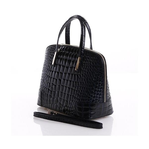 Kožená kabelka Jatany, černá