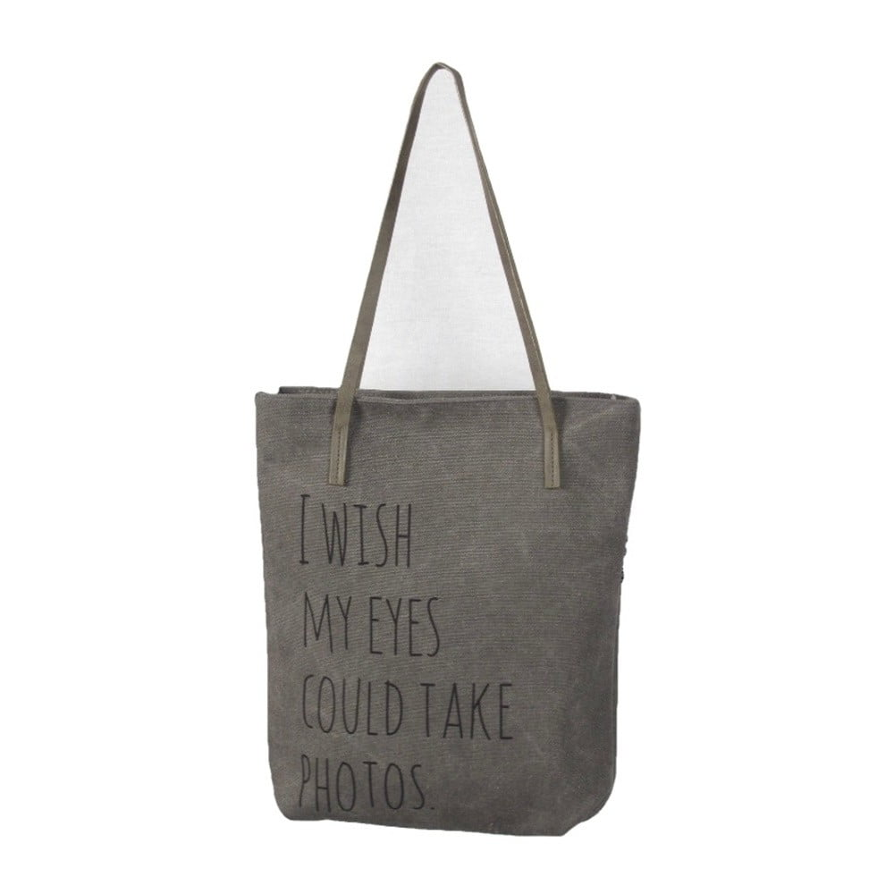 Šedá plátěná taška Sorela Eye Photos