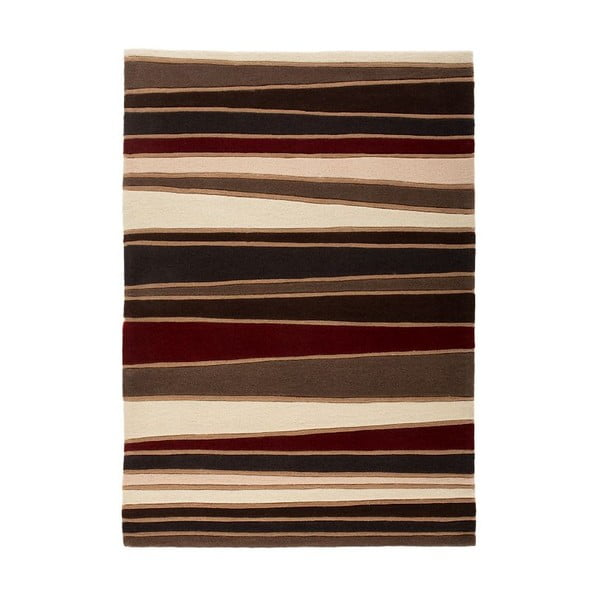 Koberec Flair Rugs Streak Brown/Red, 120 x 170 cm