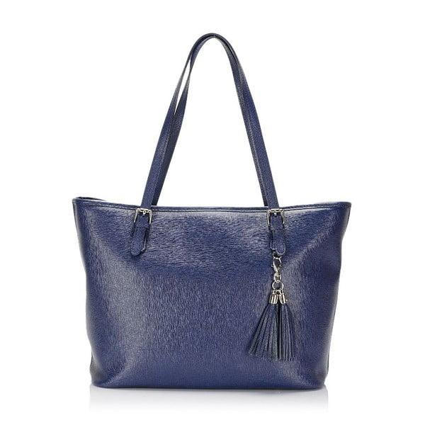 Niebieska torebka skórzana Lisa Minardi Arianna
