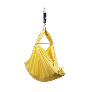 Velká žlutá kolébka z bavlny se zavěšením do dveří Hojdavak Baby XL (0až9 měsíců)