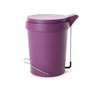 Pedálový koš Tip, 15 l, fialový