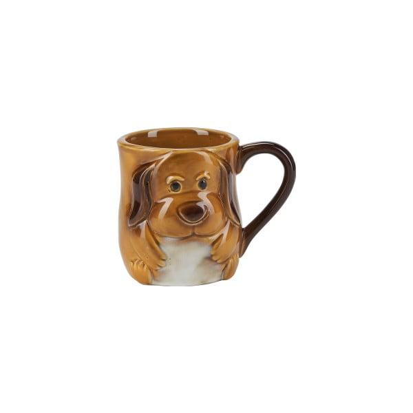 Hnedý kameninový hrnček so psíkom Bahne & CO