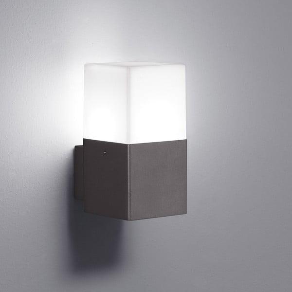 Šedé venkovní nástěnné svítidlo Trio Hudson, výška17cm