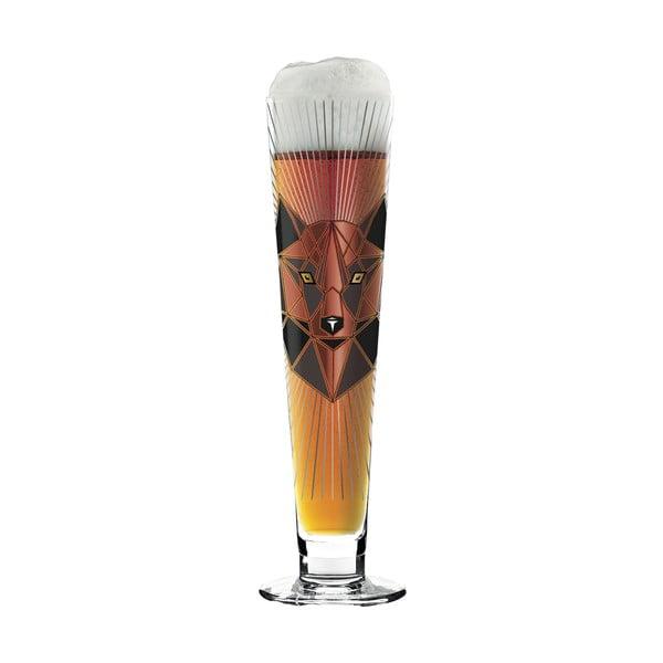 Set pivní sklenice z křišťálového skla a 5 podtácků Ritzenhoff Angela Schiewer, 385 ml