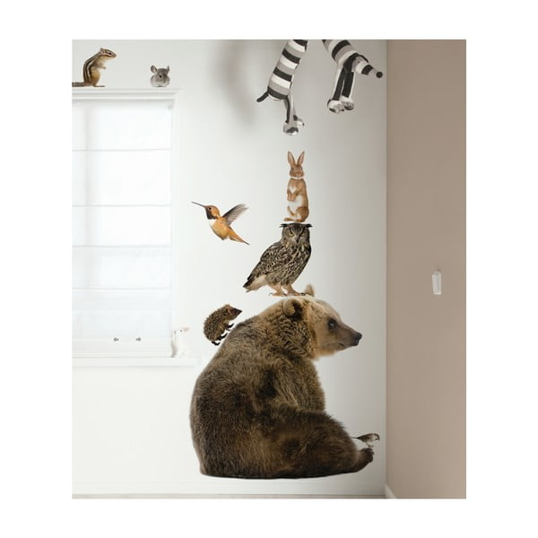 Samolepky Forest Friends - medvěd s kamarády
