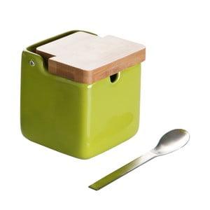 Set doză pentru zahăr și linguriță Versa Spoon Wood, verde