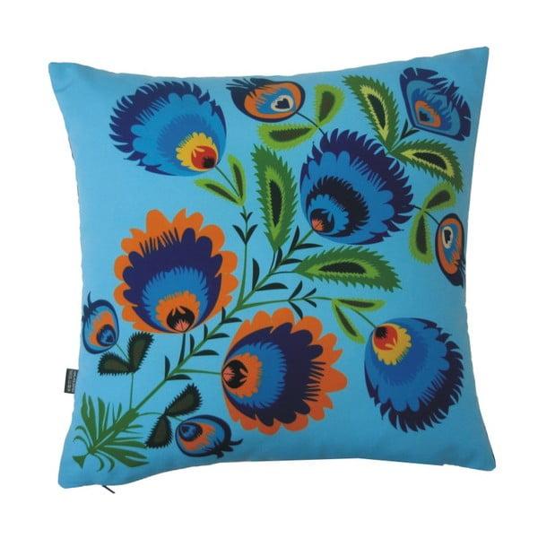 Polštář Modré květiny, 40x40 cm