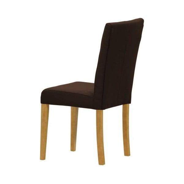 Sada 2 židlí Monako Etna Dark Brown, přírodní nohy