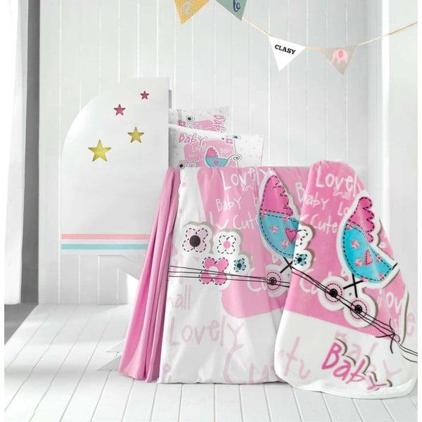 Set dětského povlečení, prostěradla a deky Lovely Baby, 100x150 cm