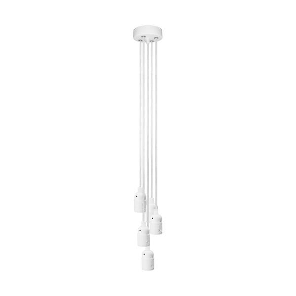 Bílé závěsné svítidlo s 5 kabely Bulb Attack Uno Basic Unit