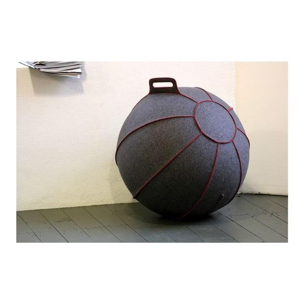 Šedý plstěný sedací míč VLUV, 75 cm