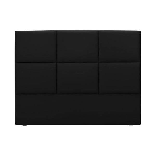 Černé čalouněné čelo postele THE CLASSIC LIVING Aude, 140x120cm