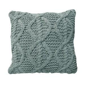 Světle modrý pletený polštář OVERSEAS,45x45cm