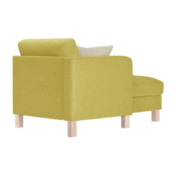 Žlutá lenoška s krémovým polštářem Stella Cadente Maison Maison Canoa, levá strana