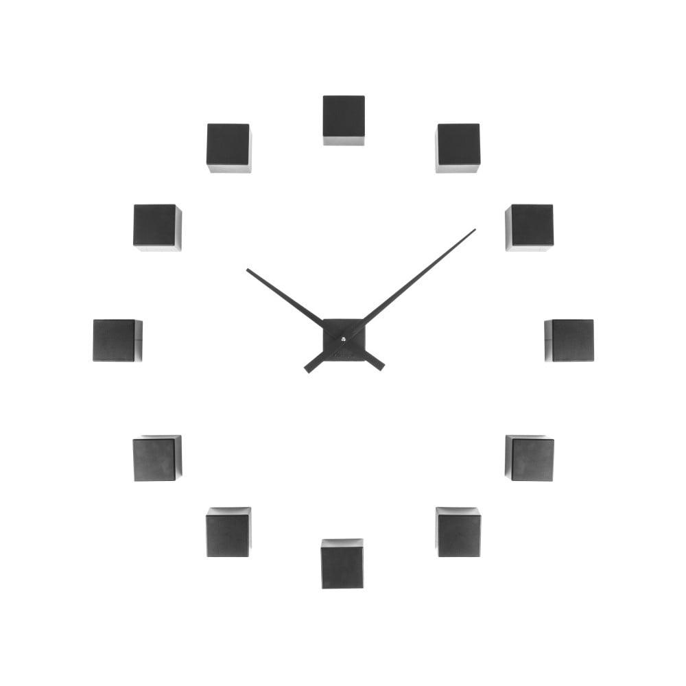 Černé nástěnné hodiny Karlsson Do It Yourself
