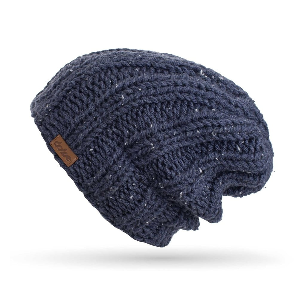 Tmavě modrá ručně pletená čepice DOKE Mina