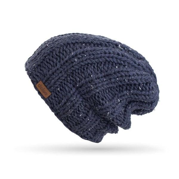 Tmavomodrá ručne pletená čiapka DOKE Mina