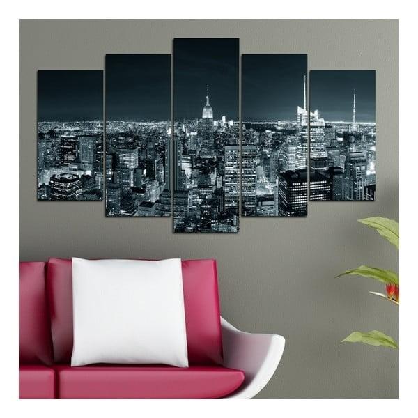 5dílný obraz Světla velkoměsta