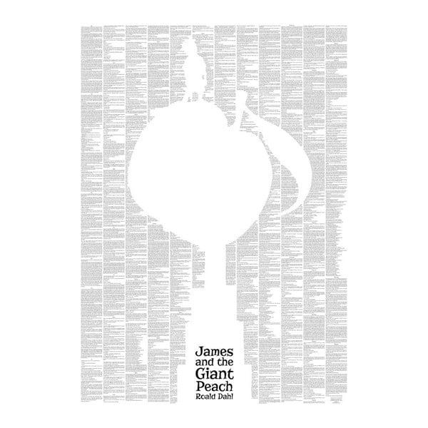 Knižní plakát Jakub a obří broskev, 50x70 cm