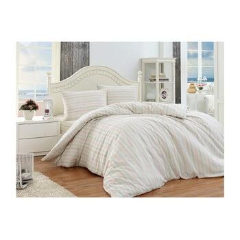 Lenjerie de pat cu cearșaf Permento Puro, 200 x 220 cm de la EnLora Home