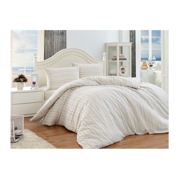 Lenjerie de pat cu cearșaf Permento Puro, 200 x 220 cm