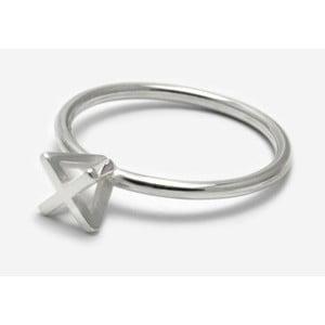 Stříbrný prsten Bepart Triangle Square Rock, vel.53