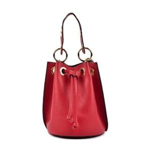 Červená kožená kabelka Roberta M Rissio