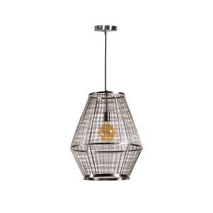 Kovové závěsné svítidlo ve stříbrné barvě ETH Grid