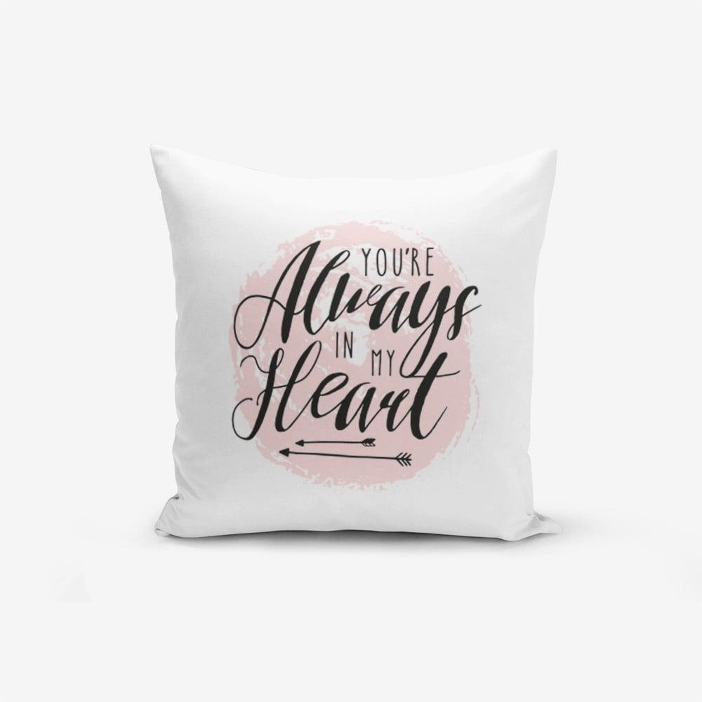 Povlak na polštář s příměsí bavlny Minimalist Cushion Covers Moons, 45 x 45 cm