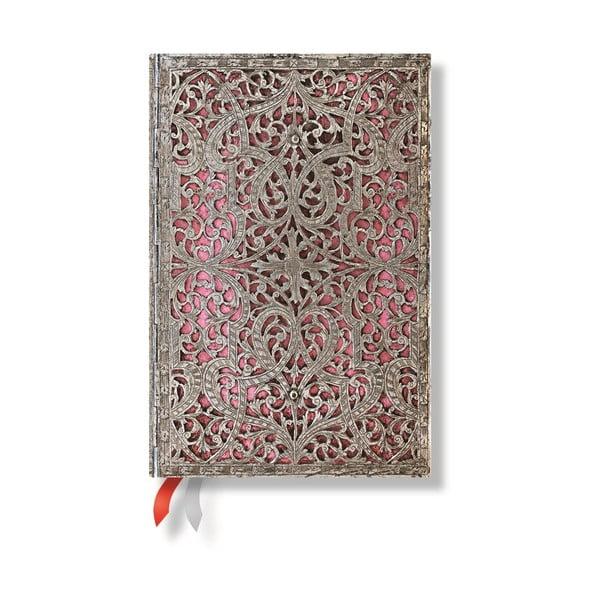 Diář pro rok 2015 Blush Pink 10x14 cm, horizontální výpis dnů