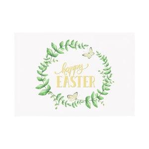 Sada 2 zelenobílých prostírání Apolena Happy Easter, 33x45cm