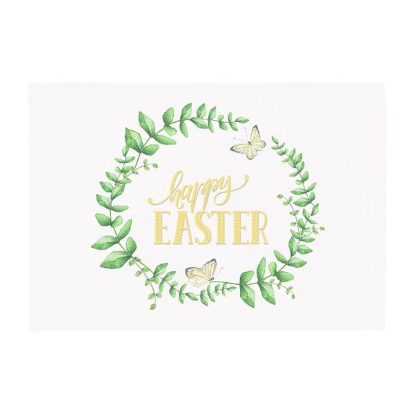 Sada 2 zeleno-bielych prestieraní Apolena Happy Easter, 33×45cm