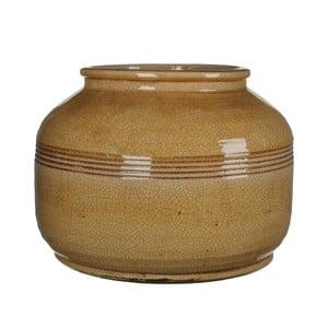 Keramická váza Abbey Ochre, 27x38 cm