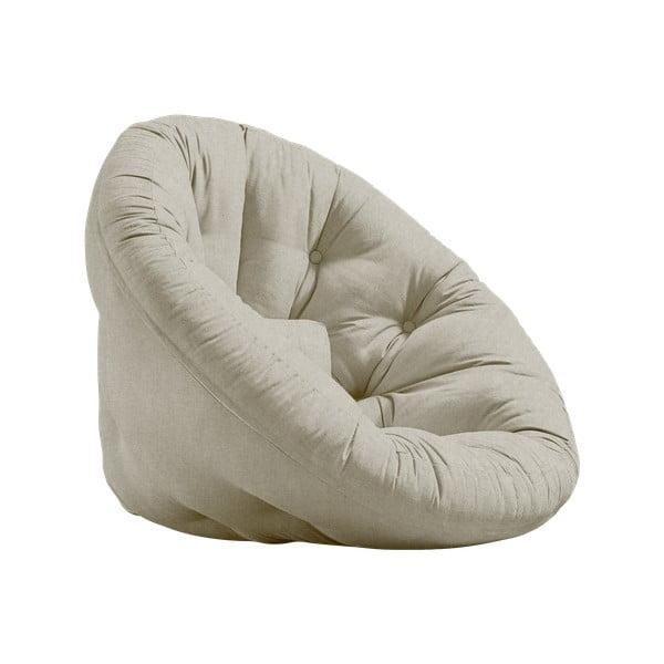 Rozkładany fotel z lnianym obiciem Karup Design Nido Linen