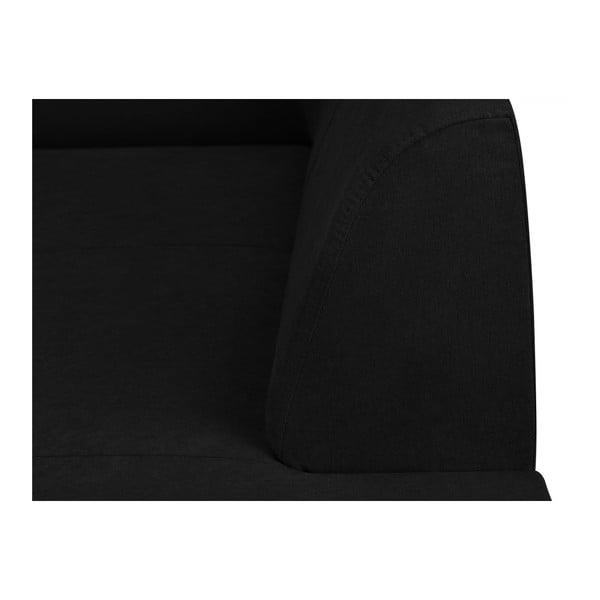 Černá trojmístná pohovka Kooko Home Piano