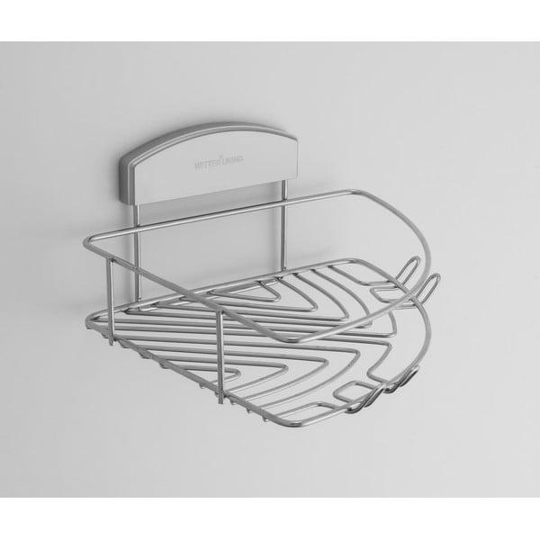 Rohový stojan na sprchové gely bez nutnosti vrtání Compactor Gel, 23x24 cm