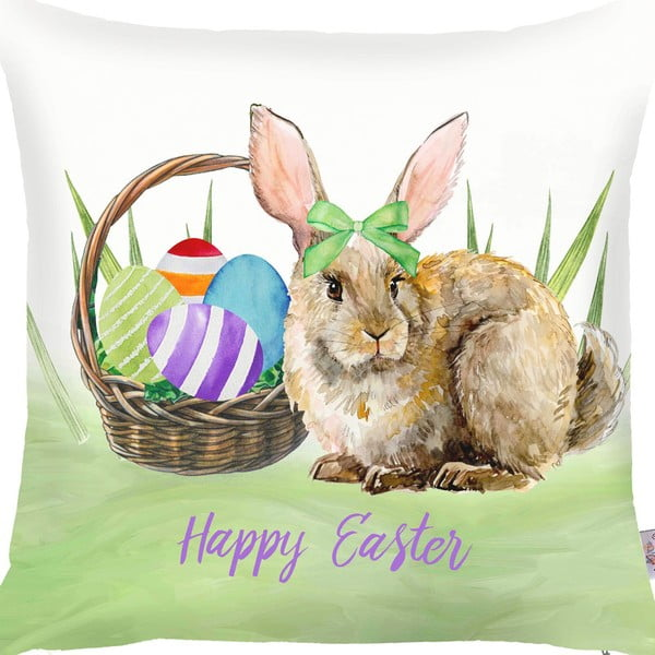 Obliečka na vankúš Apolena Easter Basket Rabbit, 43 x 43 cm