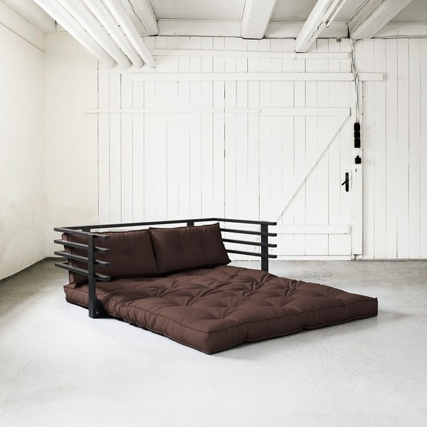 Canapea extensibilă Karup Funk Black/Brown