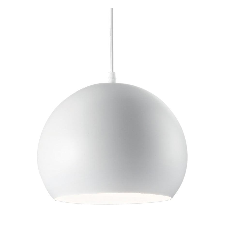 Bílé závěsné svítidlo Evergreen Lights Globe