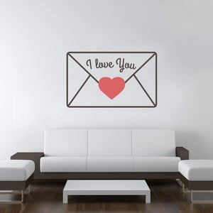 Samolepka na stěnu Love Message