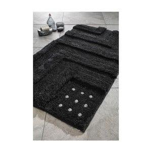 Sada 2 koupelnových předložek Amos Black Swarovski, 60x100 cm a 55x60 cm