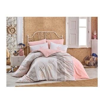 Lenjerie de pat cu cearșaf din bumbac și 2 fețe de pernă Puta, 200 x 220 cm de la Hobby