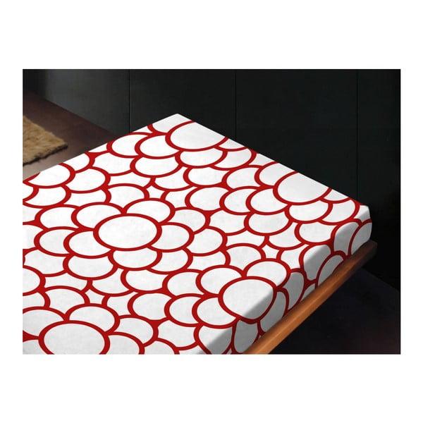 Neelastické prostěradlo Moa Rojo, 180x260 cm