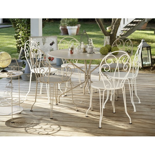 Bílá kovová židle Fermob Montmartre