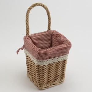 Proutěný košík Red Vichy Small